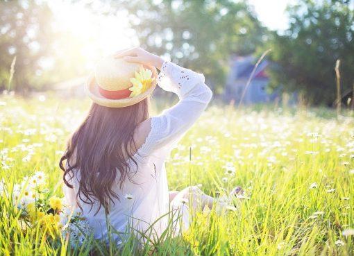kobieta w słońcu
